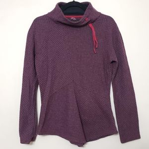 Prana Asymetrical Wool Blend Sweatshirt, sz L